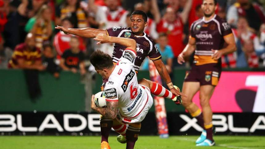 nrl round one dragons broncs